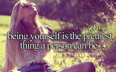 Be yourself ✌️
