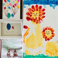 Quick hand and foot print card and gift ideas
