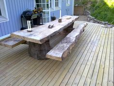 50 træterrasse for under 5000 kr Inside Outside, The Great Outdoors, Deck, Dining Table, Garden, Outdoor Decor, Inspiration, Future, Design