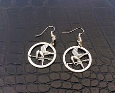 MockingJay earringshunger games  valentines gifts by PetalcraftArt