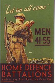 World War 2 British Home Guard Recruitment Poster A3 / A2 Print | eBay