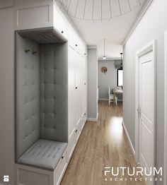 Projekt wnętrza, Bajeczna, Kraków - Hol / przedpokój, styl nowoczesny - zdjęcie od FUTURUM ARCHITECTURE