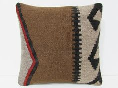 16x16 perfect kilim pillow beach throw pillow aztec decorative pillow unique pillow cover wool rug tribal tapestry urban throw pillow 24464