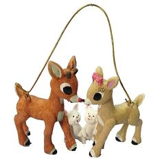 rudolph the red nosed reindeer ornaments | Rudolph the Red Nosed Reindeer 3-Inch Resin Ornament - Kurt S. Adler ...