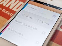 iPhone contextual menu