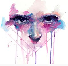 "This artist is a big inspiration for my visual identity and well represents the style I strive for in my work ""eyes"" by Agnes-cecile."