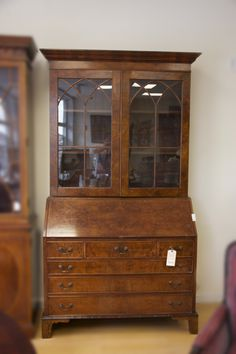 """ITEM OF THE DAY: Antique Secretary(44.5""""L x 84.5""""H x 19.5W"""") Our price $2,200. Come in to check it out! We are open Monday - Saturday 10 am till 5 pm, Sunday 12(noon) till 5 pm #Greenwichconsignments #consignments #antique #antiquefurniture #vintagefurniture #secretary #antiquesecretary #woodensecretary #realwoodsecretary #homedecor #antiquehomedecor #luxuriousfurniture #uniquefurniture #consignmentboutique"""