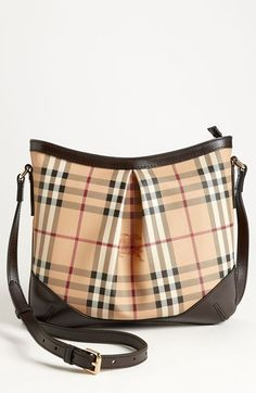 Burberry 'Haymarket Check' Crossbody Bag #Burberry #Handbag #Crossbody