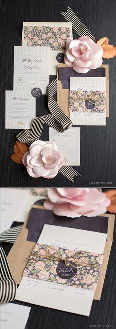 #vintagewedding #invitationsuite #papergoods #diywedding www.LiaGriffith.com