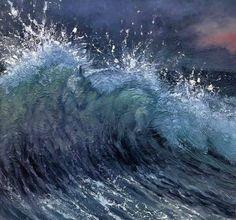 Magnifique image de chevaux dans les vagues de la mer...