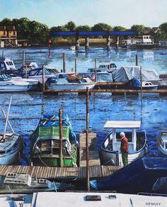 Southampton River Itchen From Cobden Bridge by Martin Davey