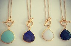 """""""Riggings"""" Large Stone Necklaces – Long Lost Jewelry"""