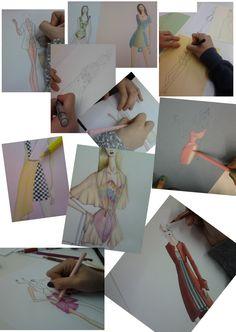 Proceso creativo de los alumnos de 1º curso