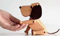 Beech Wood Oscar the Dog Wood Toy