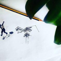 hay veces que solo me apetece dibujar esquinas y mochileros drawings