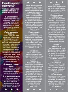Infográfico criado pela Você S.A. que mostra 10 passos para exercitar a sua criatividade. Acesse a matéria completa em http://vocesa.abril.com.br/desenvolva-sua-carreira/materia/carreira-criatividade-12-maneiras-aumentar-criatividade-683242.shtml