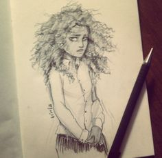 An amazing sketch by vira of Hazel Levesque