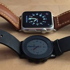Apple Watch Vs. Pebble Time Round: Hands-On Showdown