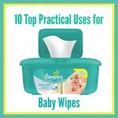 10 unique ways to use up Baby Wipes - Learn something new today by reading!