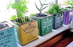 This looks great for a Window sill herb garden or to fill with beautiful succulents! It could also make a great way to gift plants to a friend who is into more vintage looking items.