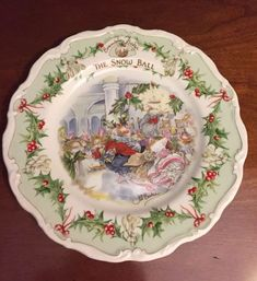 Royal Doulton BRAMBLY HEDGE Plate ~ THE SNOW BALL ~ 1st in the Series #RoyalDoulton