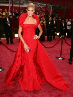 Pin for Later: Get a Load of Heidi Klum's Sexiest Looks to Date! Heidi Klum in a Red Christian Dior at the 2008 Oscars