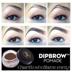 Finally my Eyebrow Pictorial <3 I used my AMAZING @anastasiabeverlyhills Dipbrow in Dark Brown. It's a MUST to look gorgeous these holidays my loves. As you can tell my eyebrows are very thin :( and don't grow. #1 I make a line to guide myself and create a thicker brow. #2 I make a circle arch so my brows won't be too pointy. #3 With ONLY what I have in my brush I go ahead and start filling all in all my brow. #4 I hold my brush a little further for a lighter effect and gently fill the…