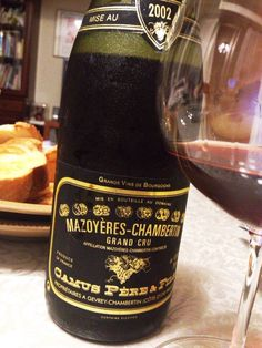 Mazoyeres-Chambertin Grand Cru 2002  #wine  Burgundy is the most delicious.