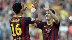 FC Barcelona, Sergio Busquets & Lio Messi. | FC Barcelona 7-0 Levante. [18.03.13] FOTO: MIGUEL RUIZ - FCB Messi, One Team, Photo Galleries, Football, Sports, Image, Games, Soccer, American Football