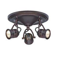 Hampton Bay 3-Light Antique Bronze Round-Base Pinhole Ceiling Fixture