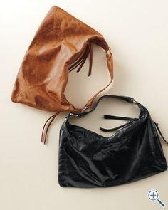 """$228  Garnet Hill, """"Hobo Paulette Handbag""""  I want this....in black please."""