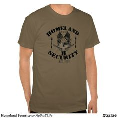 Homeland Security Army Colored Basic American Apparel T-Shirt.  #style #guns #defense #tees #new