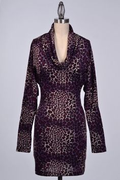 COWL NECK ANIMAL PRINT FIT DRESS #salediem wants you to ROAR!Enjoy your #animalprint #fall#fashion Shipping is FREE!