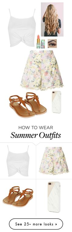 """""""Summer Outfit #24"""" by foreverblonde2001 on Polyvore featuring Zimmermann, Topshop, Native Union and tarte"""