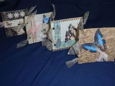 Marie: Little Book swap! Altered Books, Altered Art, Accordion Book, Card Drawing, Handmade Books, Little Books, Sketchbooks, Multimedia, Paper Cutting
