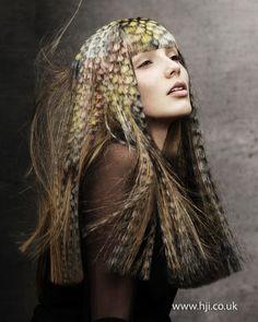 Photo of 2012 creative colour long hair hairstyle photo: Angelo Seminara Crazy Hair, Big Hair, Hair Styles 2014, Long Hair Styles, Hair Stenciling, Exotic Hair Color, Angelo Seminara, High Fashion Hair, Art Visage