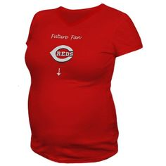 Cincinnati Reds Maternity Future Fan T-shirt -Red