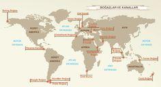 ygs coğrafya boğazlar ve kanallar haritası - Google Search