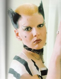 Soo Catwoman 1976. From when Punk was still new, she was a part of The Bromely Contingent – a group of friends (among them Siouxie Sioux, Steve Severin, & Billy Idol) who supported the Sex Pistols