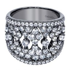 2.17 ct F-G SI Diamond Fashion Ladie's Ring In 18K White Gold LR6632W44JJ