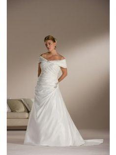 5bb5e06008e6 Hot Selling Gorgeous Princess Plus Size Off The Shoulder Chapel Train Satin  Wedding Dresses On Sale. Brudklänningar ...