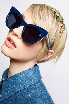 7dd1dc7d725a1 Starburst Navy   Gold - Eyewear   Karen Walker Óculos Karen Walker, Ouro  Marinha,