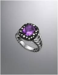 Moonlight Ice ring with an amethyst #DYINSPIRATION