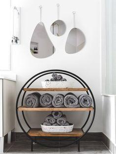 Grey Home Decor, Acrylic Mirror, Shapes, Minimalist Decor, Magazine Rack, Bookcase, Cabinet, Storage, Wall