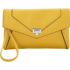 Melie Bianco Mikaela Clutch Clutche ($27) ❤ liked on Polyvore featuring bags, handbags, clutches, manmade handbags, yellow, handbags purses, hand bags, melie bianco purse, yellow clutches and yellow purse