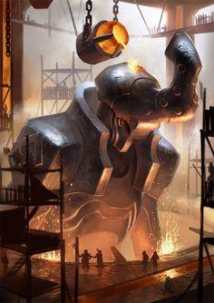 Dwarven Arch Titan, Christian Schob #rpg #dwarf #d&d