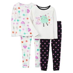 Just One You Made by Carter's® Infant Toddler Girls' 4-Piece Sweets Pajama Set