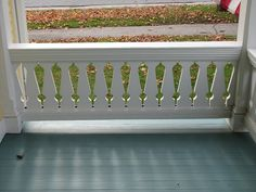 Barker Residence – porch detail sawn baluster porch railing, beautiful Porch Balusters, Front Porch Railings, Stair Railing, Balcony Railing, Deck Railings, Banisters, Victorian Porch, Victorian Cottage, Victorian Homes