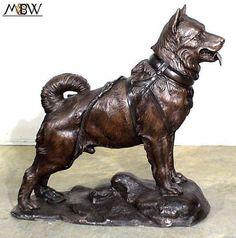 Cast Bronze Indoor Outdoor Balto Sled Dog Statue