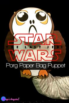 Star Wars: The Last Jedi Porgs Craft and Puppets! Get printable cute Porgs to use on gift bags, popcorn bags, and puppets! Enjoy a fun DVD movie night with these adorable guys! Star Wars Themed Food, Star Wars Food, Fun Crafts, Crafts For Kids, Amazing Crafts, Paper Bag Puppets, Star Wars Crafts, The Force Is Strong, Last Jedi